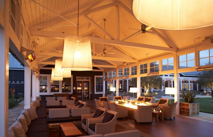 Carneros inn reviewed high living in wine country for Hotel interior and exterior design