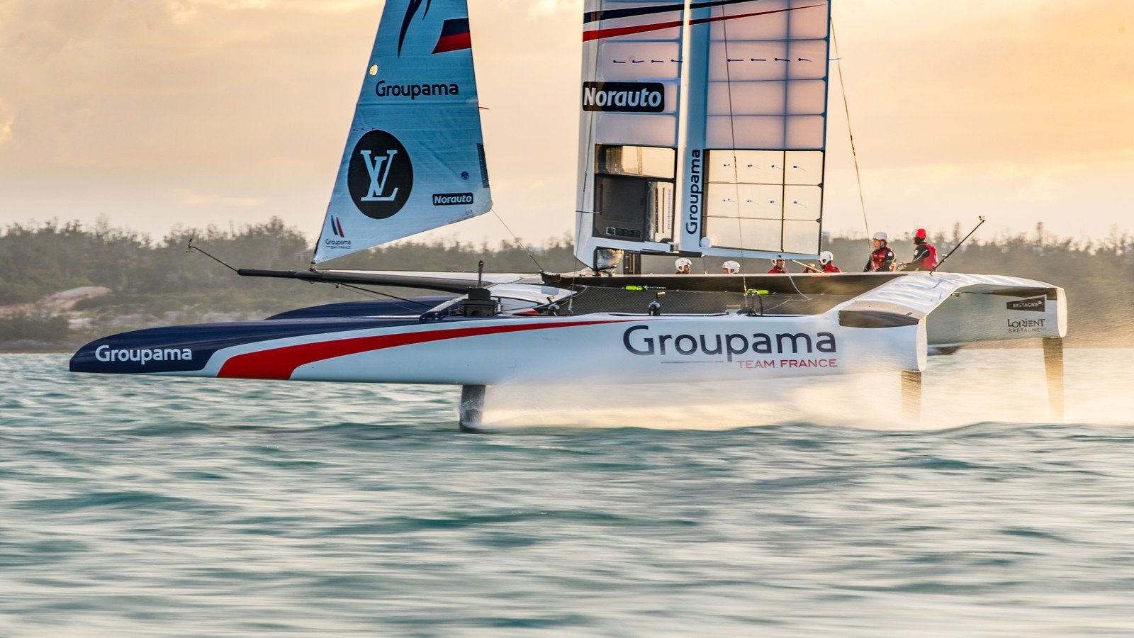 18/03/2017 - Hamilton (BMU) - 35th America's Cup Bermuda 2017 - Groupama Team France sailing their America's Cup Class (ACC) boat
