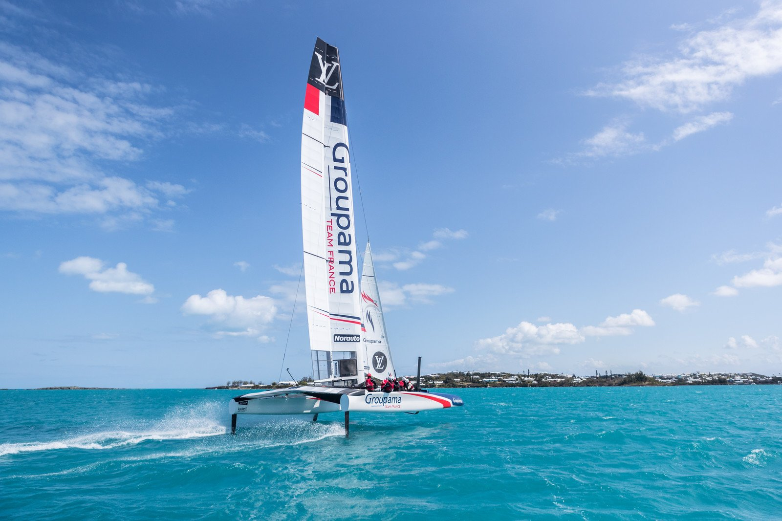 22/03/2017 - Hamilton (BMU) - 35th America's Cup Bermuda 2017 - Groupama Team France sailing their America's Cup Class (ACC) boat