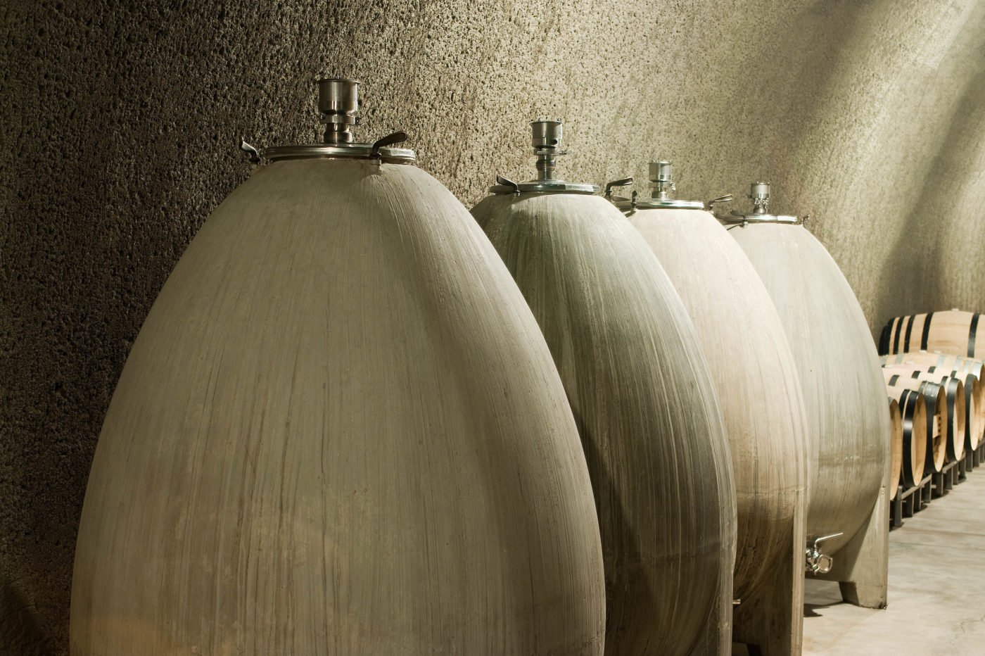 Concrete Egg Fermenting Tanks at Cliff Lede Winery