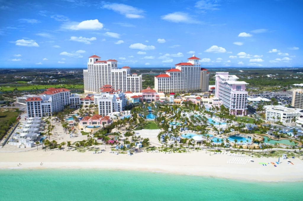Aerial view of Baha Mar