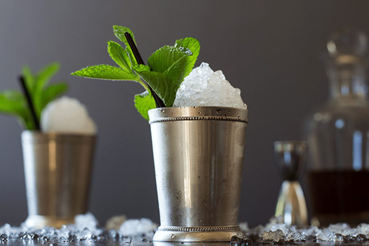 Mint Julep in classic metal julep cup